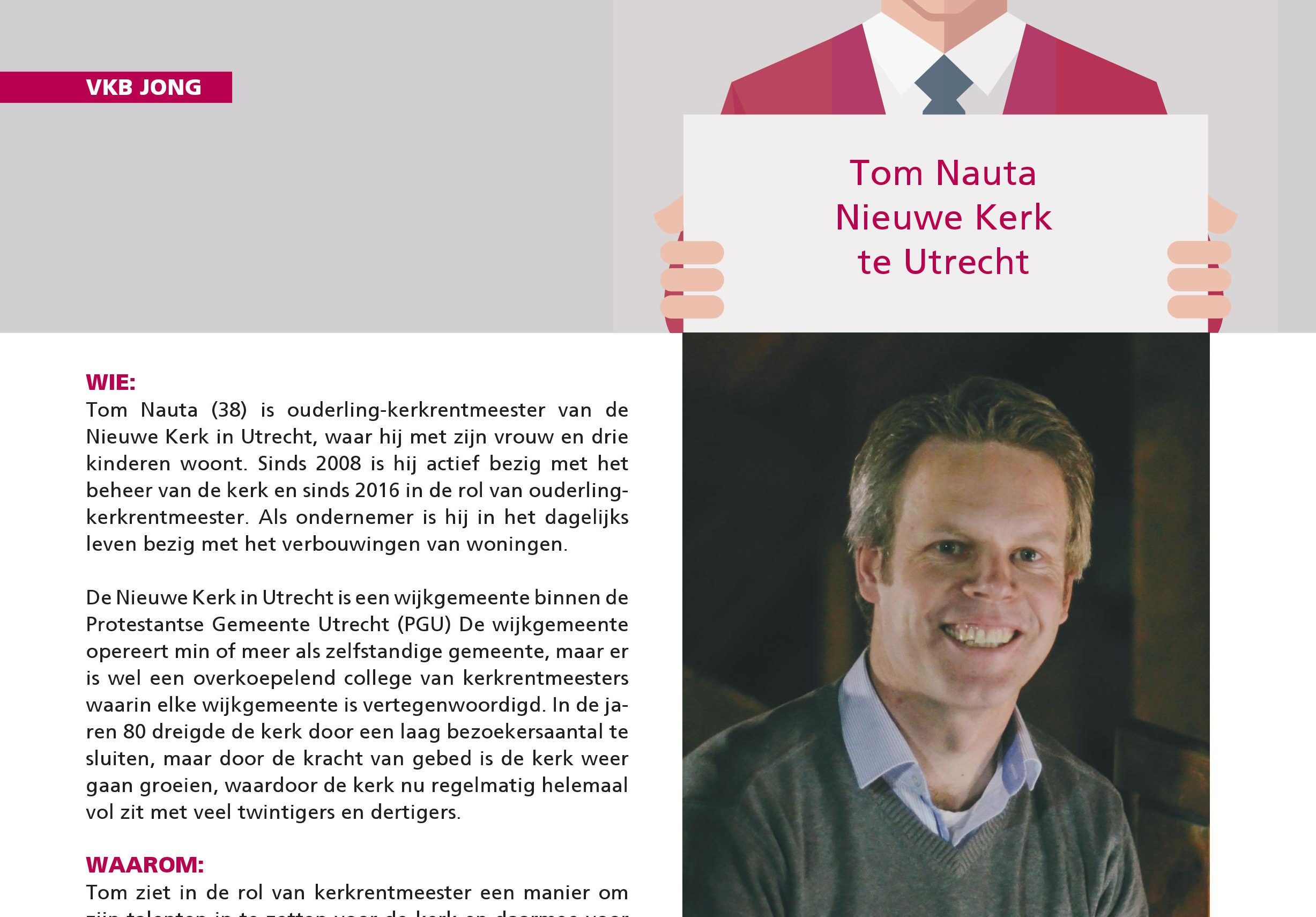 Tom Nauta in het blad Kerkbeheer