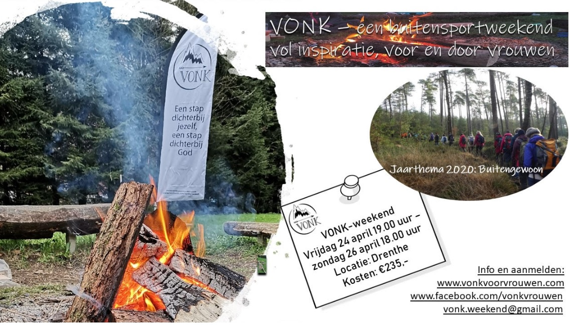 VONK outdoor vrouwen weekend 24- 26 april in Drenthe